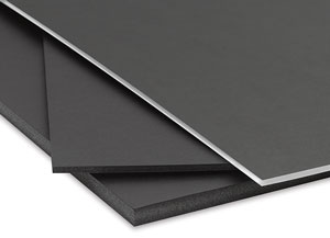 Black Foamboard, White Core and Regular shown