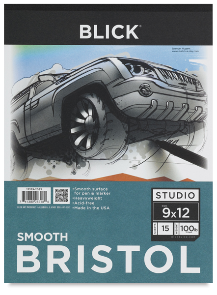 Smooth Bristol Pad, 15 Sheets