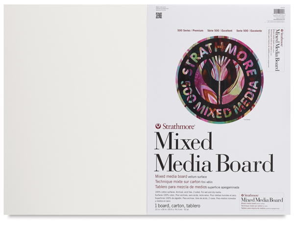 "500 Series Mixed Media Boards, Pkg of 1, 22"" × 30"""