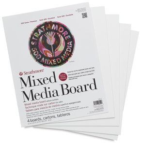 "500 Series Mixed Media Boards, Pkg of 4, 11"" × 14"""
