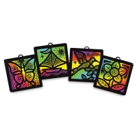 Scratch-Art Light Catchers Group Pack, Example Artwork