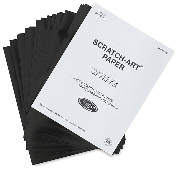 Scratch Art Paper, Pkg of 50 Sheets, White