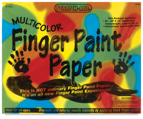 Multicolor Finger Paint Paper