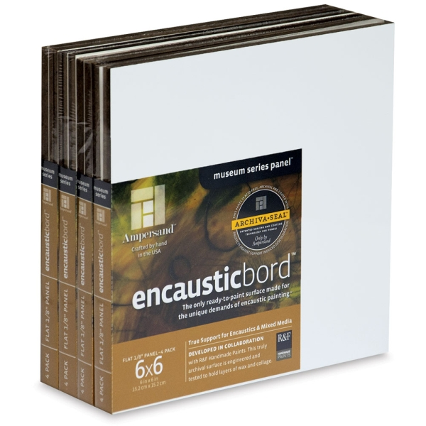 "Encausticbord, 6"" x 6"", Pkg of 16"