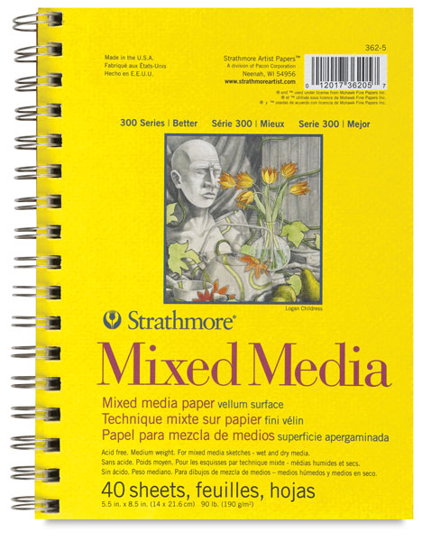 "Mixed Media Pad, 5½"" × 8½"""