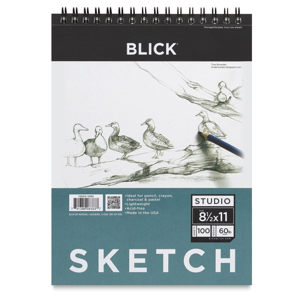 "8-1/2"" x 11"" Sketch Pad, 100 Sheets"