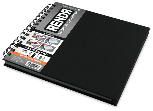 RendR No Show Thru Paper, Wire Bound Drawing Pad