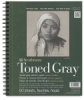 Toned Sketch Wirebound Journal, Cool Gray