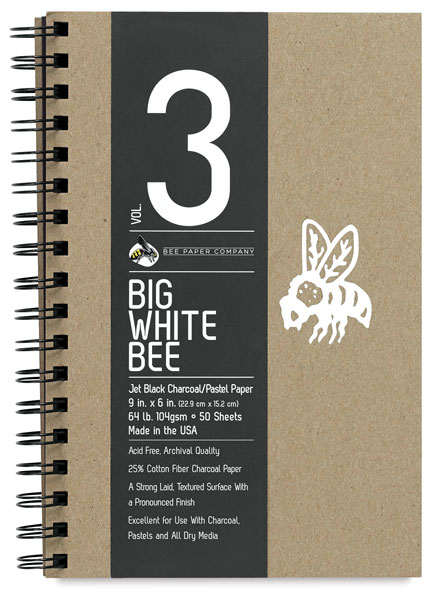 "Big White Bee Sketchbooks, 9"" x 6"""