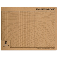 2-Point Perspective 3D Grid Sketchbook, 60 Sheets/120 Pages