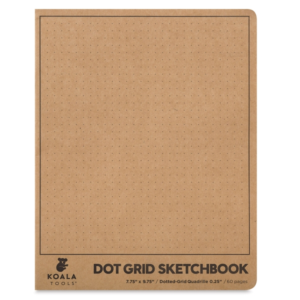 Dot Grid Sketchbook, 60 Sheets/120 Pages