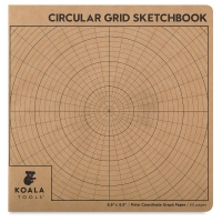 Circular Grid Sketchbook, 60 Sheets/120 Pages