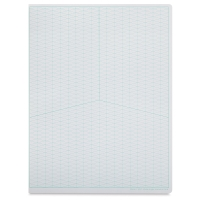 Wide-Angle Isometric Grid Sketchbook, 60 Sheets/120 Pages