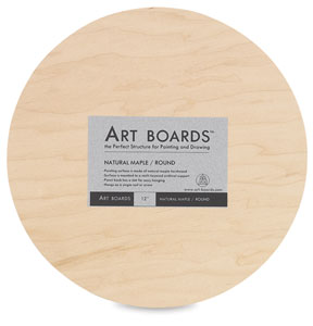 Maple Round Art Panel, 12""