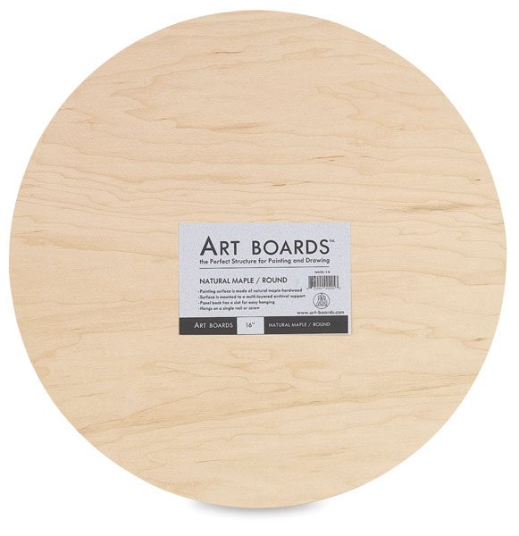 Maple Round Art Panel, 16""