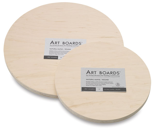Maple Round Art Panels