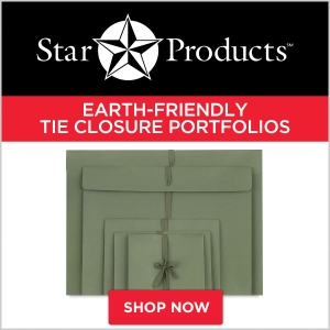 Star Products Earth-Friendly Tie Closure Portfolios