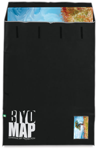 "BIYOMAP Art Protection Case, 51"" x 63"" w/Gray Border"