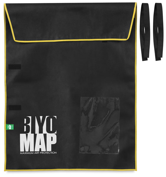 "BIYOMAP Art Protection Case, 27"" x 35"" w/ Yellow Border"