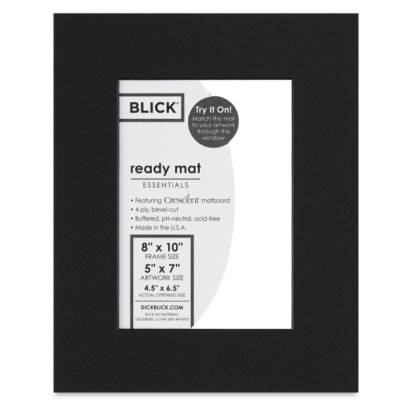 Black Core Ready Mat, Raven Black