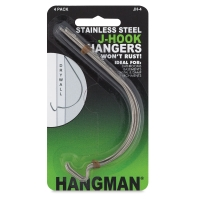 Hangman J-Hook Hanger, Pkg of 4