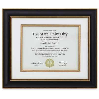 Tuscan Wood Document Frame