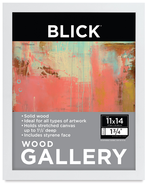blick essentials wood gallery frames blick art materials