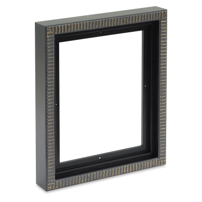 "Black/Gold Pietra Wood Floater Frame, for 3/4"" and 7/8"" Deep Canvas"