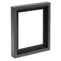 "Black/Silver Pietra Wood Floater Frame, for 3/4"" and 7/8"" Deep Canvas"