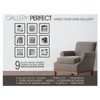 "Black, 9 Piece Set, 12"" x 12"" frames"