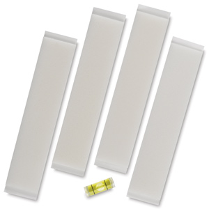 Hangman Canvas Board Hanging Tape, Pkg of 4,  w/ Level
