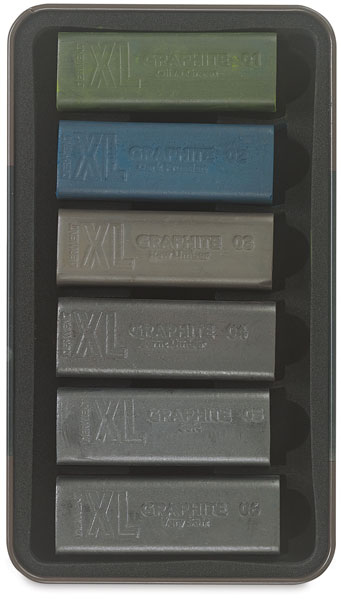 XL Graphite Blocks, Set of 6