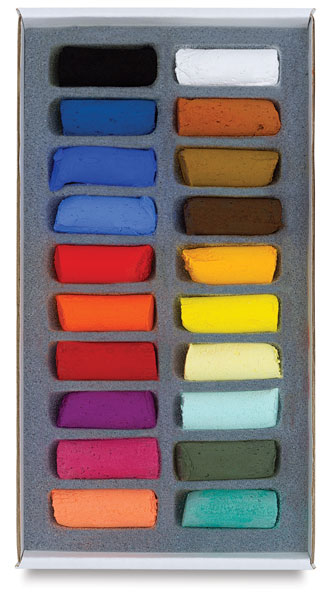 Assorted Colors, Set of 20, Half-Sticks