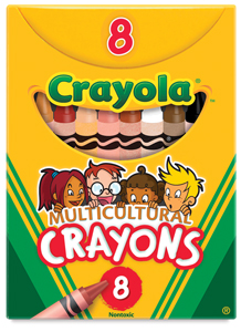 Multicultural Colors Crayons, Set of 8