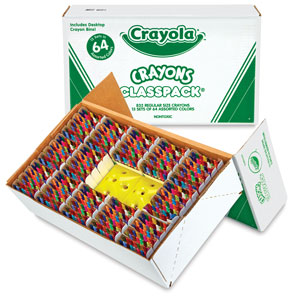 Regular Crayon Classpack of 832, with 64 Colors