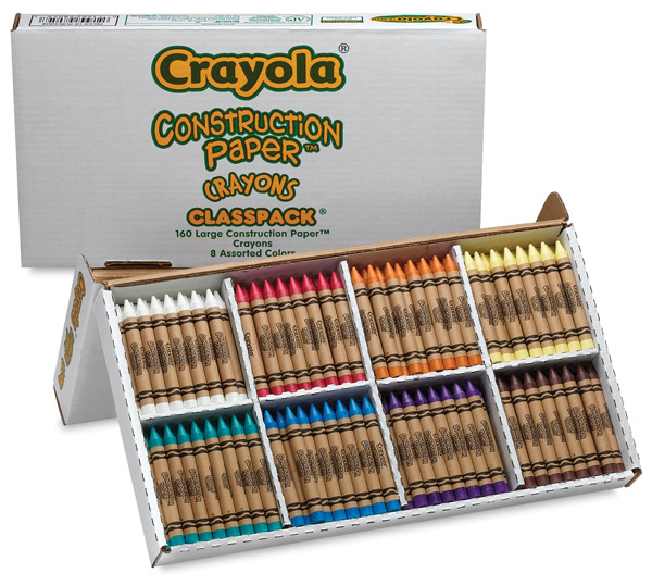 Construction Paper Crayons Classpack of 160