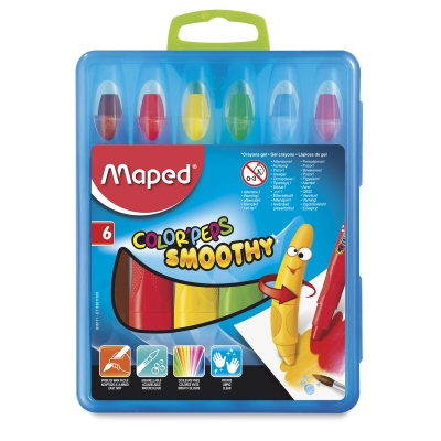 Color'Peps Smoothy Gel Crayons, Set of 6