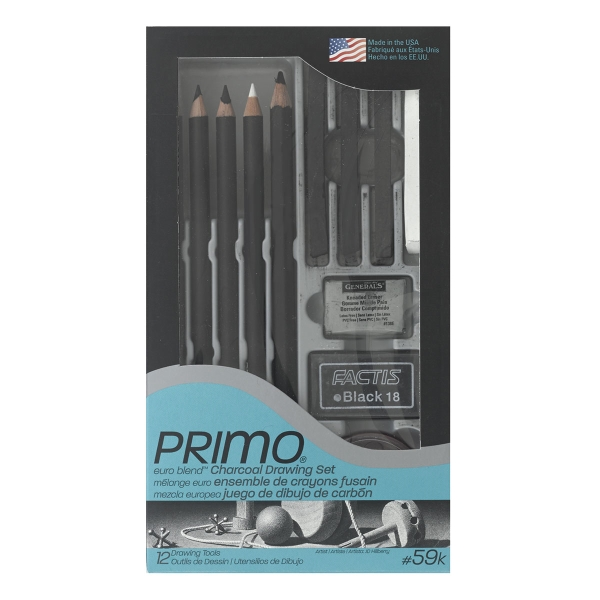 Primo Euro Charcoal Pencil Deluxe Set