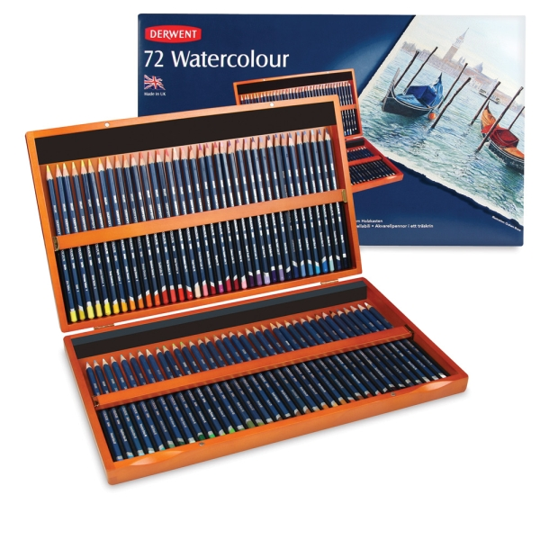 Watercolor Pencil Wooden Box Gift Set of 72