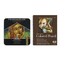 Premier Colored Pencils, Set of 48 with  FREE  Strathmore Colored Pencil Pad