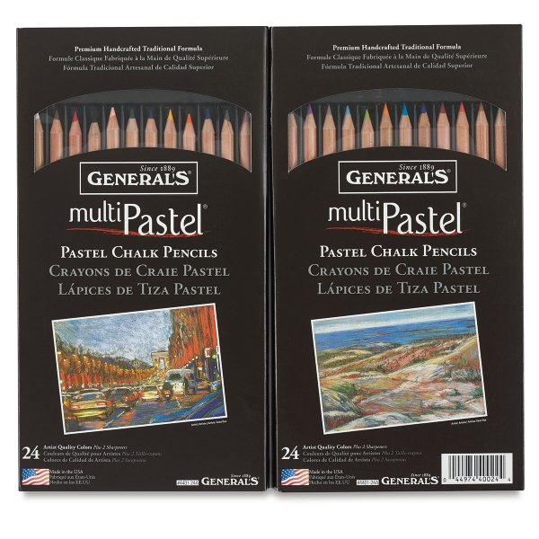 Pastel Chalk Pencils, Set of 24
