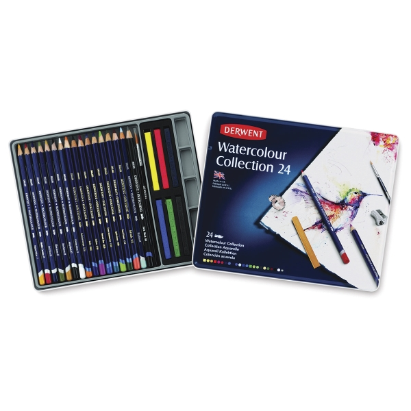 Watercolor Pencils, Set of 24