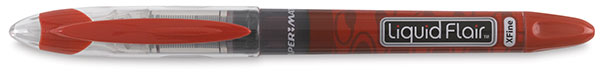 Liquid Flair Extra Fine Line Pen, Red