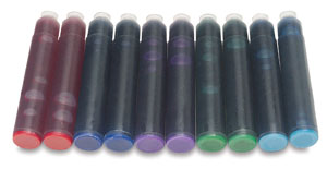 Assorted Colors, Set of 10 Cartridges