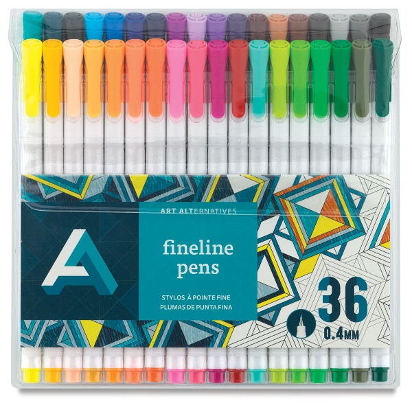 Fineline Pens, Set of 36