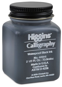 Black Waterproof Calligraphy Ink