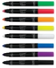 Broad Line Fabric Markers, Set of 8