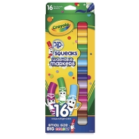 Pip-Squeaks Washable Markers, Set of 16