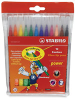 Stabilo Power and Power Max Fiber Tip Markers
