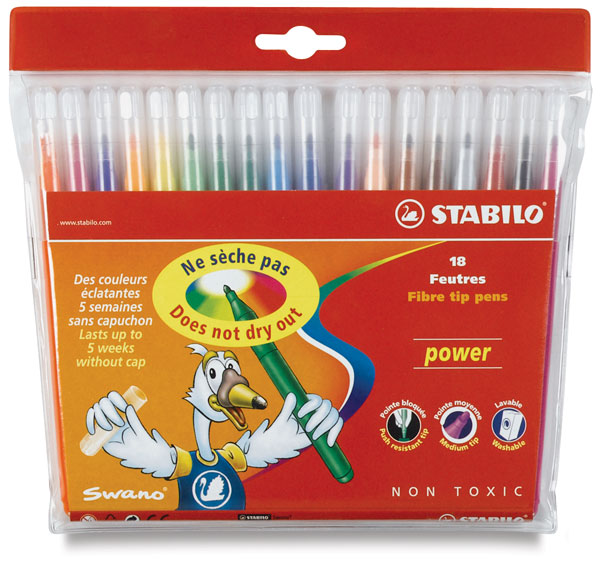 Power Markers, Wallet of 18 Colors